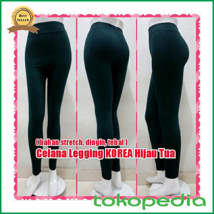 Jual Celana Leging Korea Hijau Tua Legging Import Yoga Sport Aerobic Kota Samarinda Hafizzah Mart Tokopedia