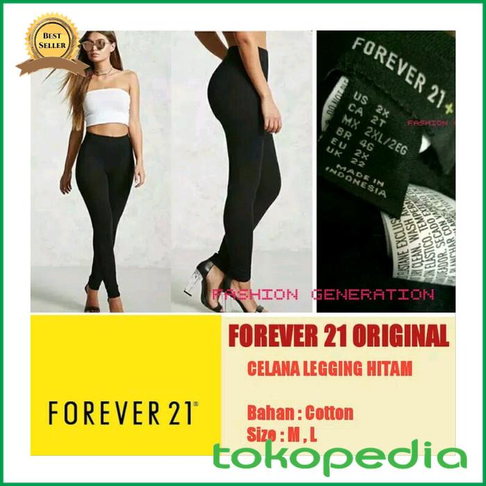 Jual Celana Legging Forever 21 Original Wanita Cewek Warna Hitam Panjang Kota Samarinda Hafizzah Mart Tokopedia