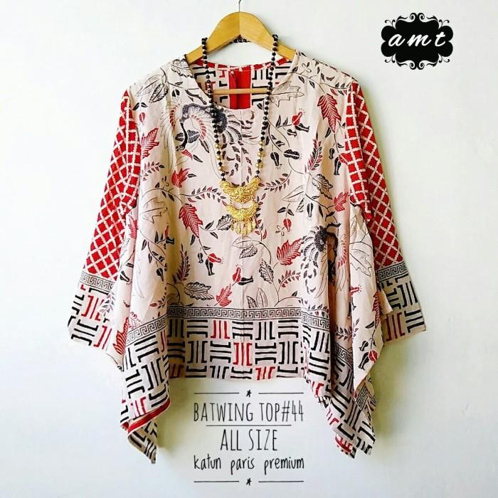 Foto Produk baju kerja wanita big size top batik dari Batik Sri