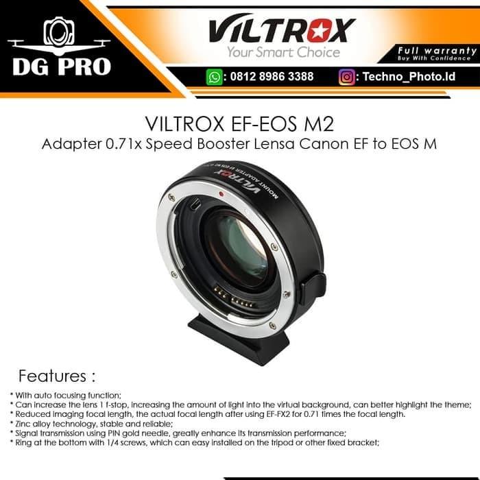 Foto Produk VILTROX EF-EOS M2 Adapter 0.71x Speed Booster Lensa Canon EF to EOS M dari DG PRO
