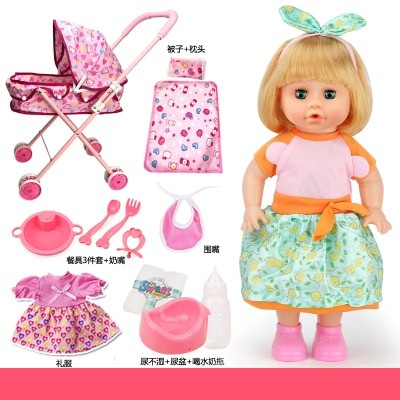 Foto Produk Children toy talking girl doll with baby stroller play house toys set dari Setia jaya_makmur