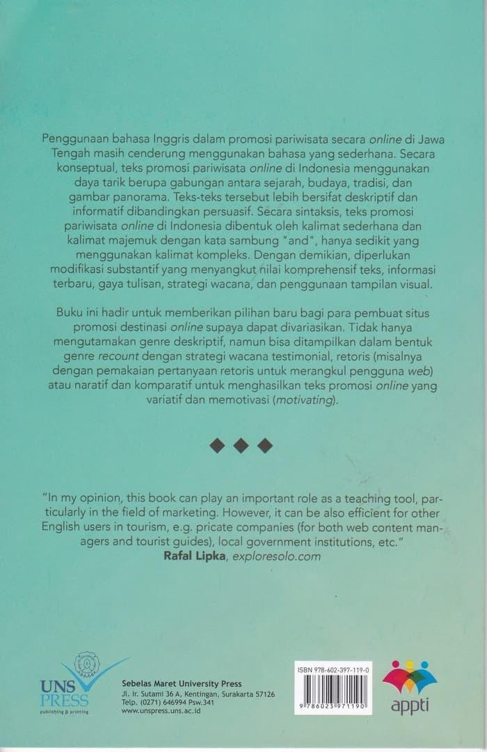 Jual Buku Buku Bahasa Inggris Persuasif Untuk Promosi Pariwisata Jakarta Barat Bambangpradana Tokopedia