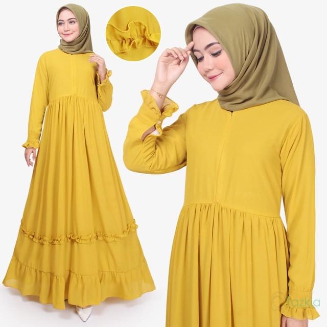 Foto Produk Tazkia Hijab Store   Dress Muslim Wanita   Afia Dress   Gamis Busui - Hijau dari Tazkia Hijab Store