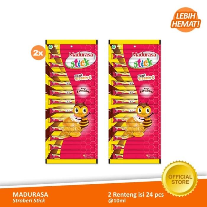 Foto Produk Madurasa Stroberi Stick 12x10 ml - Renteng (2 Renteng) dari Air Mancur Official Shop