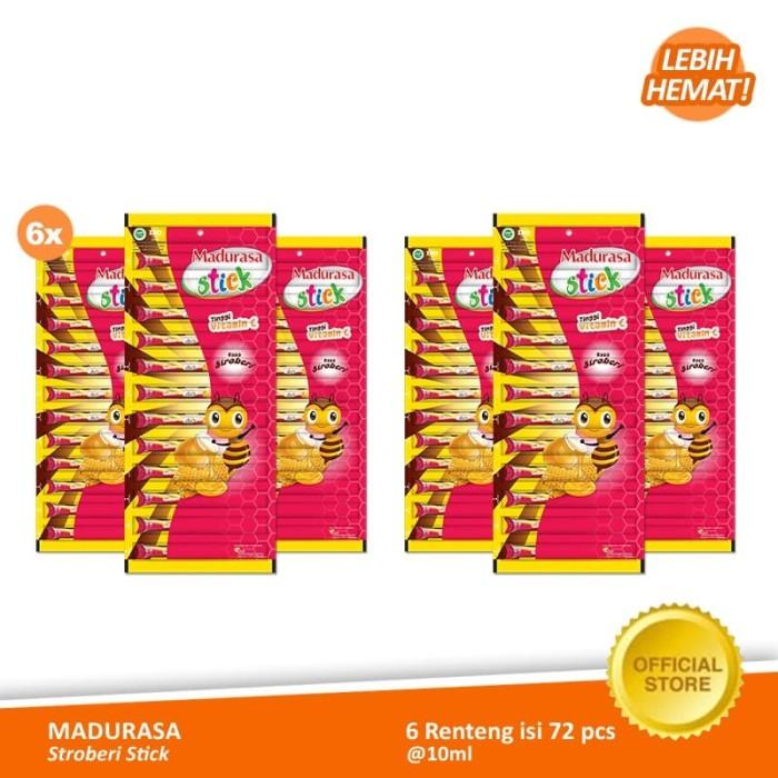 Foto Produk Madurasa Stroberi Stick 12x10 ml - Renteng (6 Renteng) dari Air Mancur Official Shop