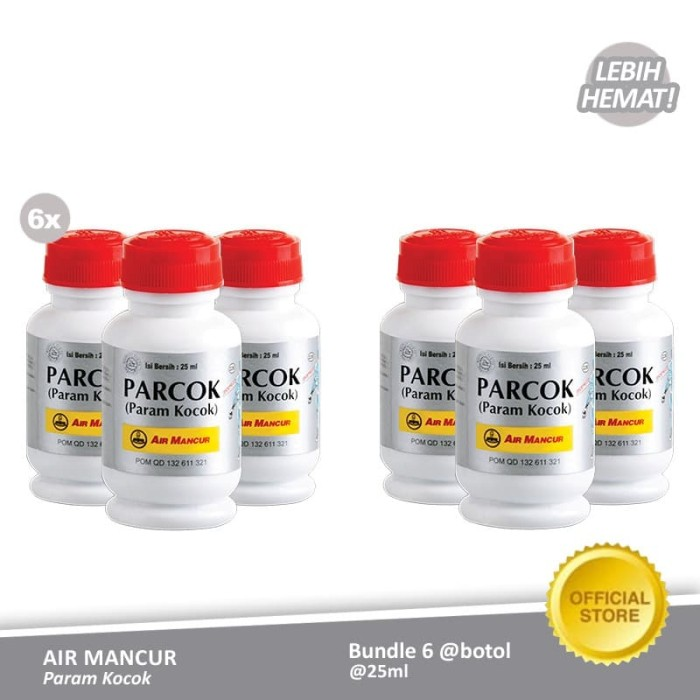 Foto Produk Air Mancur Param Kocok Botol 25 ml (6 Botol) dari Air Mancur Official Shop