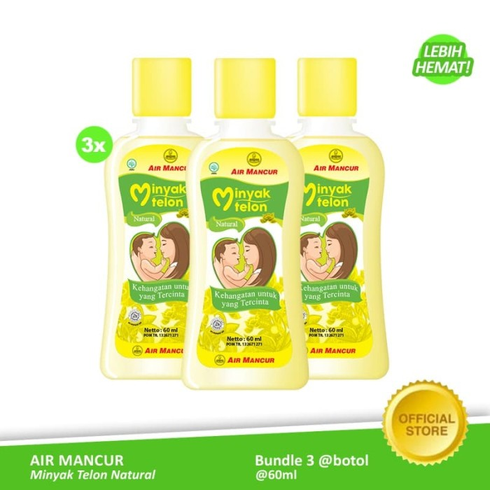 Foto Produk Air Mancur Minyak Telon Natural Botol 60 ml (3 Botol) dari Air Mancur Official Shop