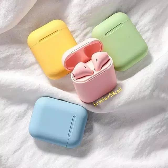 Foto Produk headset bluetooth 5.0 wireles airpods inpods i12 macaron tws - Kuning dari Brother88cell