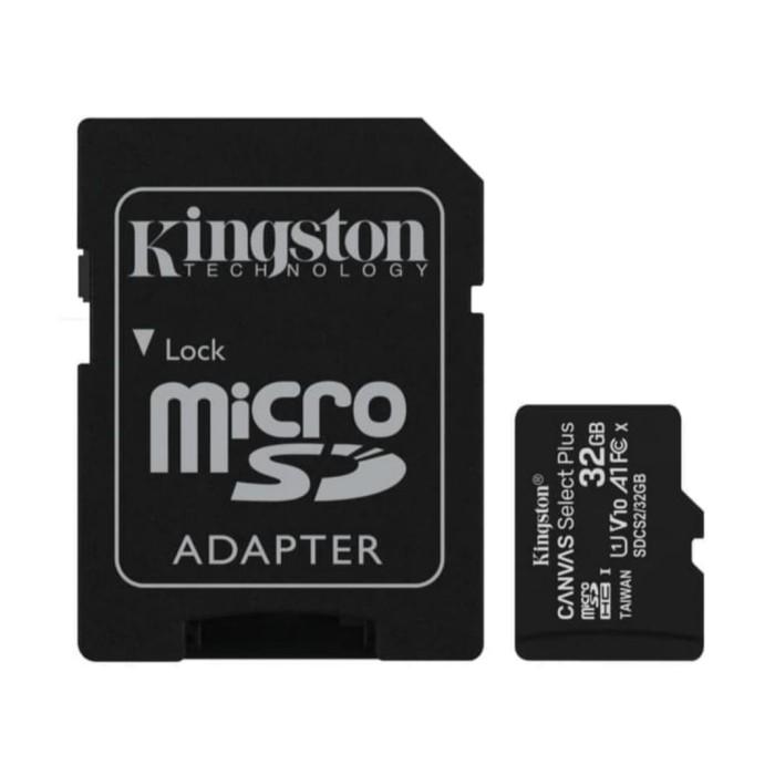 Foto Produk Kingston 32GB MicroSD Card Canvas Select Plus Class 10 MicroSDHC dari Raja Storage
