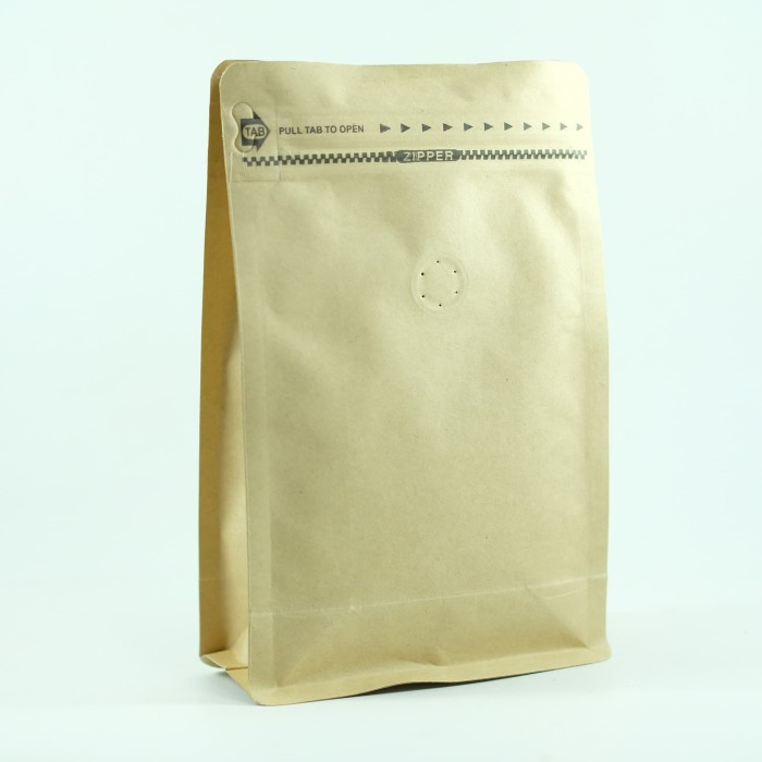 Foto Produk Coffee Bag 250gr Standing Pouch With Zipper + Valve Brown (20 pcs) dari KOPITIAM OFFICIAL STORE