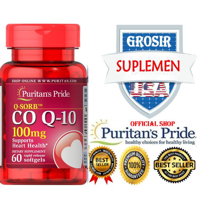 Foto Produk Q10 100 mg Q10 isi 60 Softgel PURITAN USA Co Enzyme dari GROSIR SUPLEMEN USA