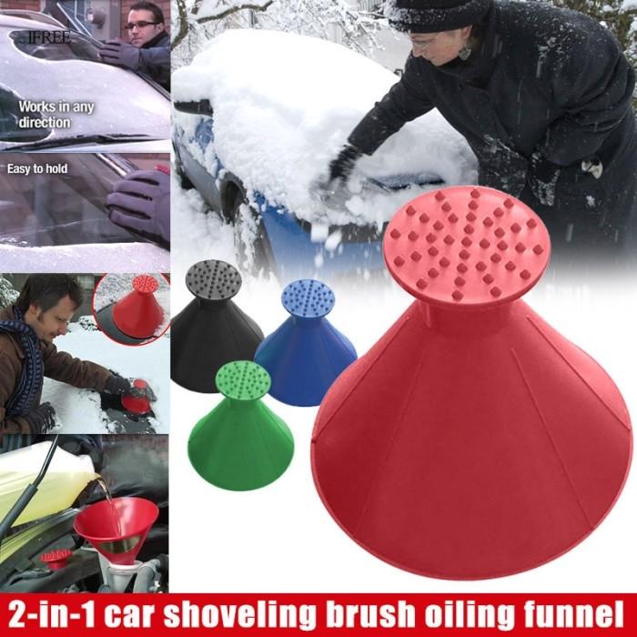 A Round Ice Scraper,Car Windshield Snow Removal,Ice Scraper Snow Shovel Tool