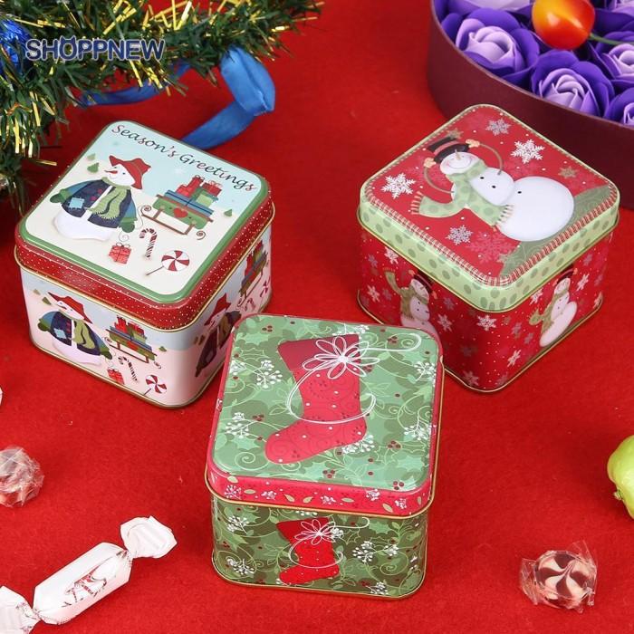 Jual Baru Decor Mini Christmas Gift Package Tin Box Candy Baking Cookies Jakarta Selatan Busters Wroppy Tokopedia