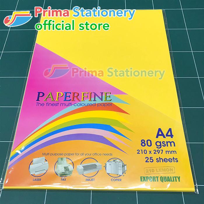 Foto Produk Kertas HVS Warna Paperfine Lemon dari Prima Stationery