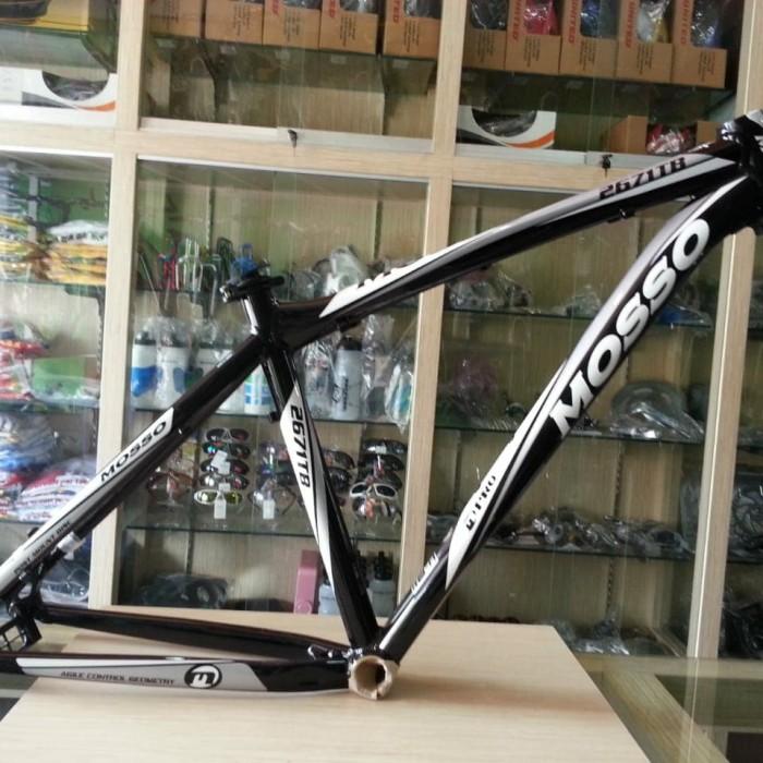 Foto Produk frame mosso alloy 2671TB hitam putih sepeda asli taiwan dari MULTI GROSIRKU