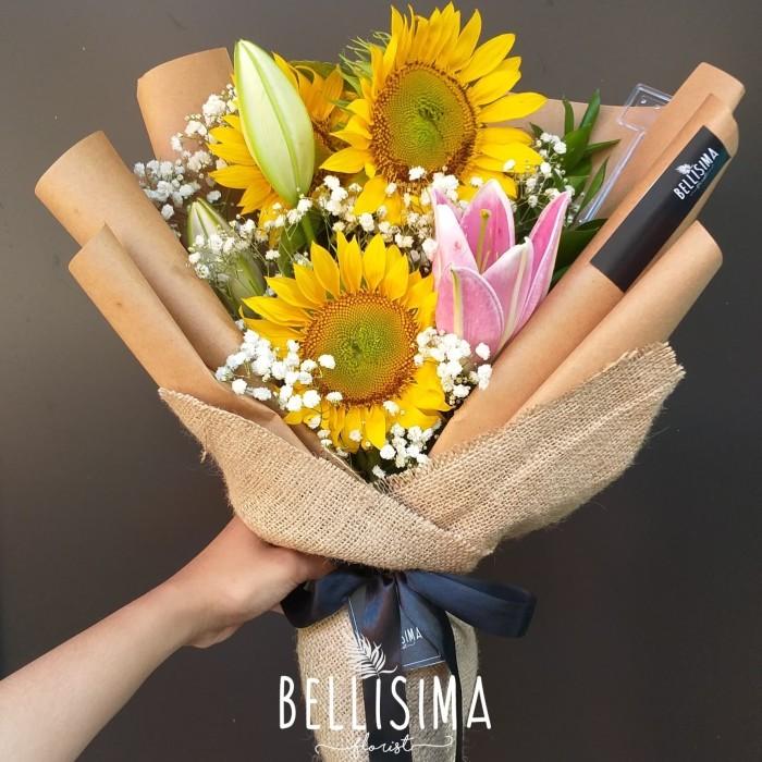Jual Buket Bunga Matahari Asli Buket Bunga Segar Florist Bogor