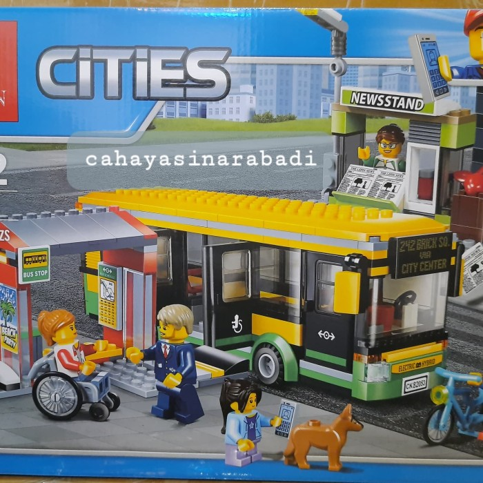 Jual LEGO CITY COMPATIBLE LEPIN 02078 BUS STATION ...