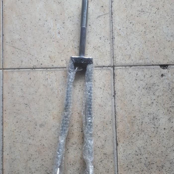 Foto Produk fork sepeda 27 balap/roadbike jadul crome taiwan dari mulia sepeda