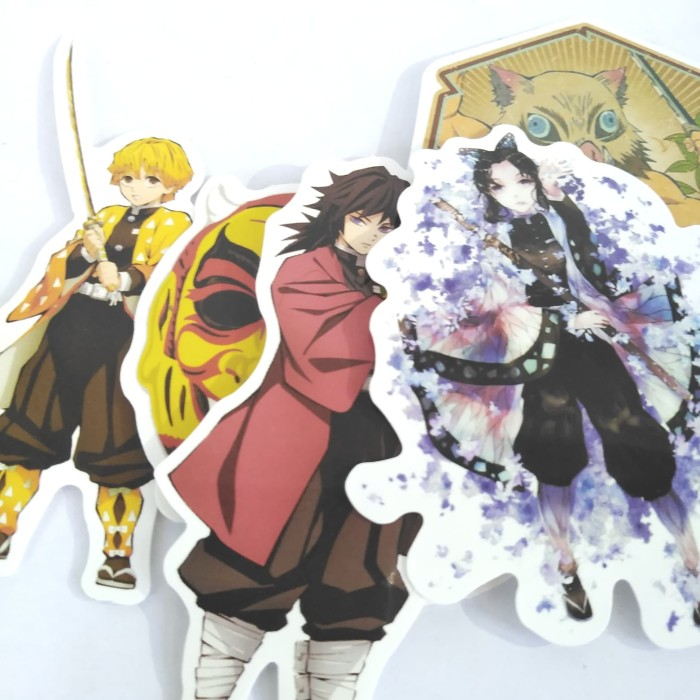Jual Sticker Anime Kimetsu No Yaiba Demon Slayer 5 Pcs 6
