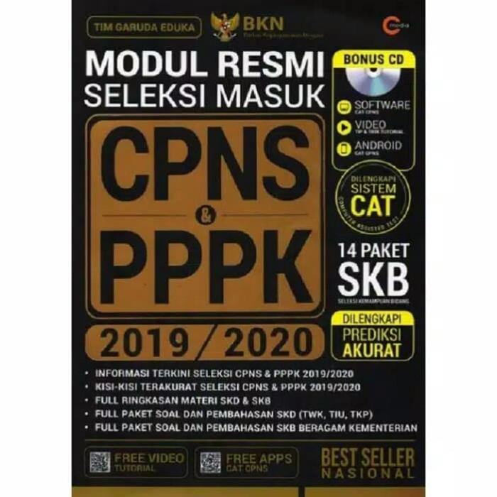 Jual Buku Modul Resmi Seleksi Masuk Cpns Pppk 2019 2020 Kab Sleman Berbuku Buku Tokopedia