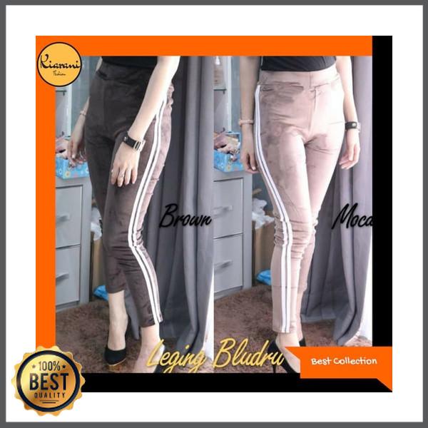 Jual Ready Stock Celana Legging Bludru Stripes Celana Legging Wanita 291 Kab Kotabaru Sarah Mart Tokopedia