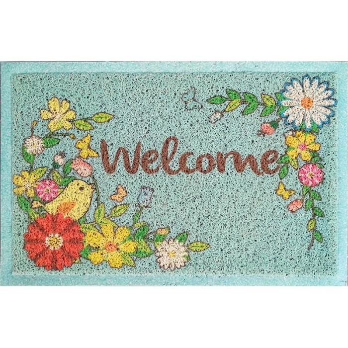 Foto Produk Keset Welcome Bunga Burung C13 dari Houseof Carpet