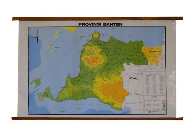 Jual Terbaru Peta Provinsi Banten Bingkai Jakarta Selatan Ziziprasetyo Tokopedia