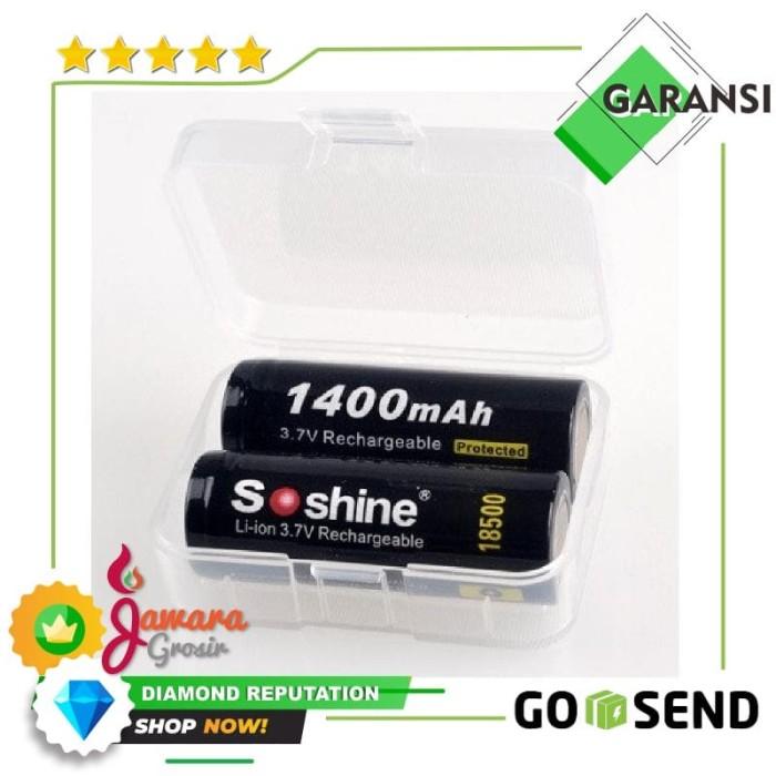 Foto Produk Transparent Battery Case for 18500 dari Jawara Grosir
