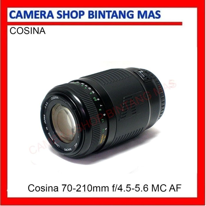 Foto Produk Cosina 70-210mm f/4.5-5.6 MC AF Wide Angle Telephoto Lens for Yashica dari Camera Shop Bintang Mas