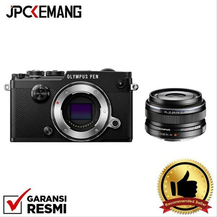 Foto Produk Olympus PEN-F Body + 17mm f/1.8 GARANSI RESMI - Hitam dari JPCKemang