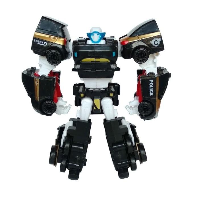 Foto Produk Tobot Quatran Hitam 4 in 1 Mainan Mobil Robot Anak Laki Laki dari Grandia Shop