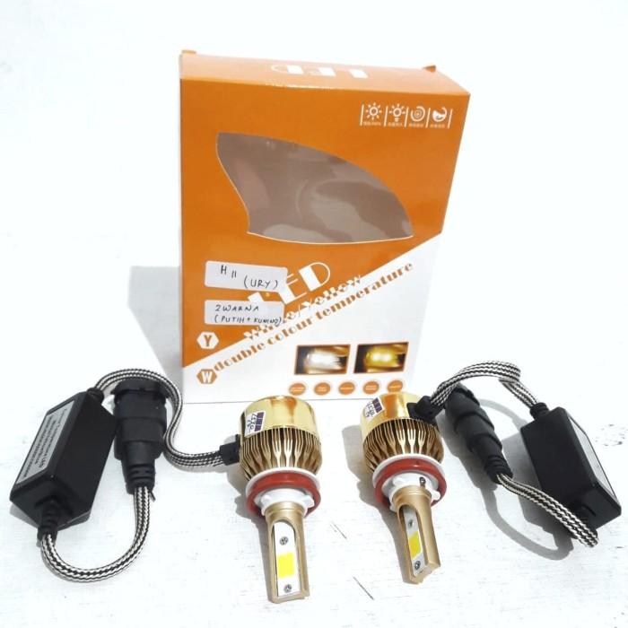 Jual Bohlam H11 Led Headlamp 2 Warna Putih Kuning 1 Set Lampu Depan Mobil Kota Surabaya Master Motor Variasi Tokopedia