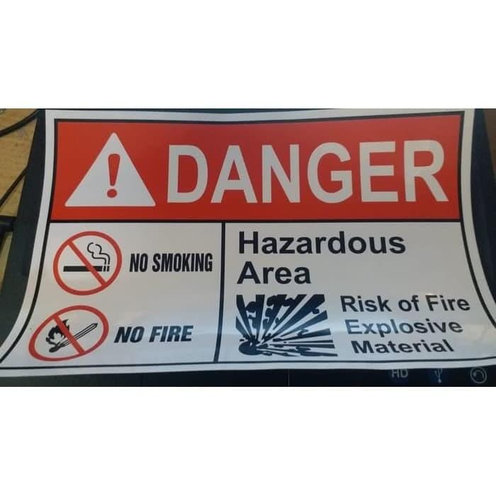 Jual Sign Label Sticker Danger Hazardous Area 30x20cm Rambu K3 Stiker Jakarta Barat Cyclon Slim Capsule Tokopedia