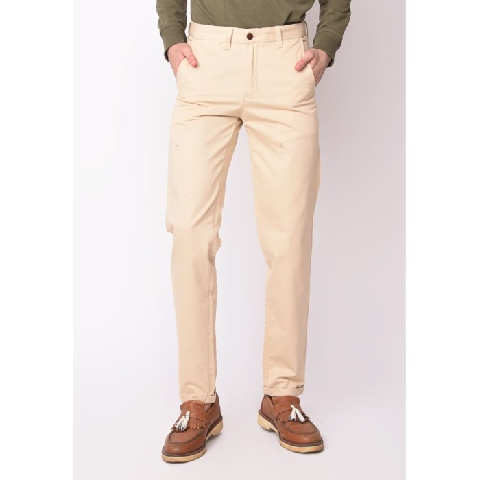 Foto Produk Skelly Celana Panjang Chino Pria Kennedy Pants T3 Khaki - Cokelat, 34 dari Skelly Official