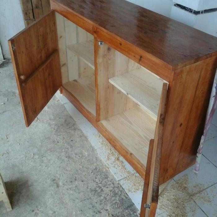 Jual Meja Kitchen Set Bawah Kayu Jati Belanda Pinus 120cm Kab Bekasi Bulely Tokopedia