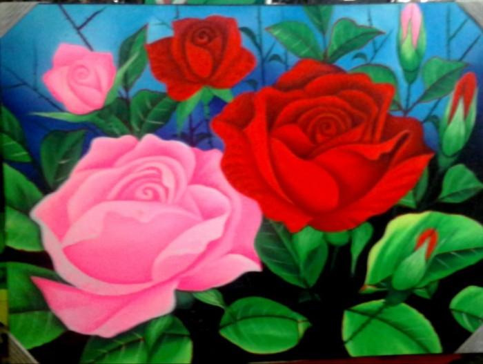 Jual Lukisan Bunga Mawar Rose Flower Painting 80x60 Kanvas Saja Style C Kota Denpasar Muhamad Tiyan Ahyars Tokopedia