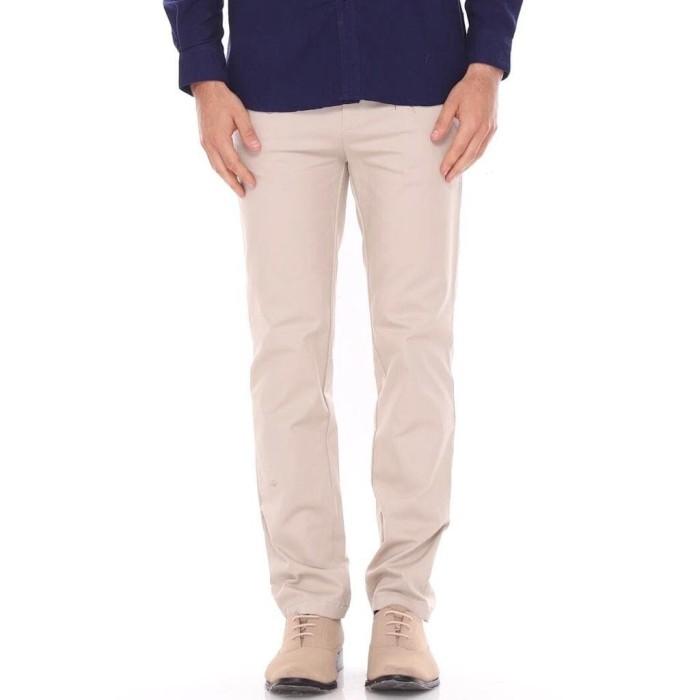 Foto Produk DailyOutfits Chino Celana Panjang Pria Krem Casual Premium Quality - S dari Daily Outfits DYO