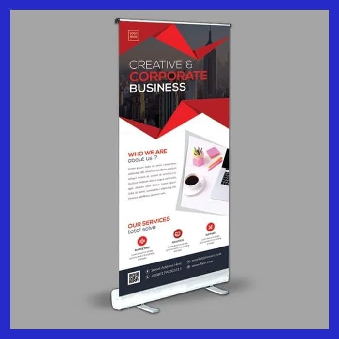 Foto Produk Cetak Roll up Banner ( Ukuran 60 x 160 cm) dari SBKStore