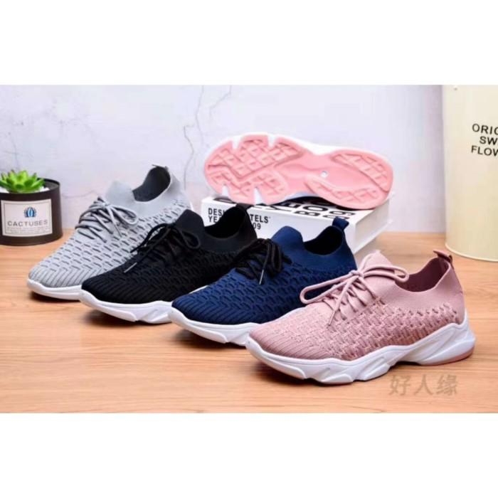 Foto Produk Sepatu Sneakers Wanita Sport Elastis Original M&M Collection 6702 - Merah Muda, 36 dari G&V