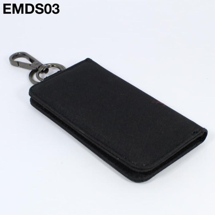 Foto Produk EMDS03 Dompet STNK Motor Mobil - gantungan kunci keychain - Hitam dari ERAMORECO.