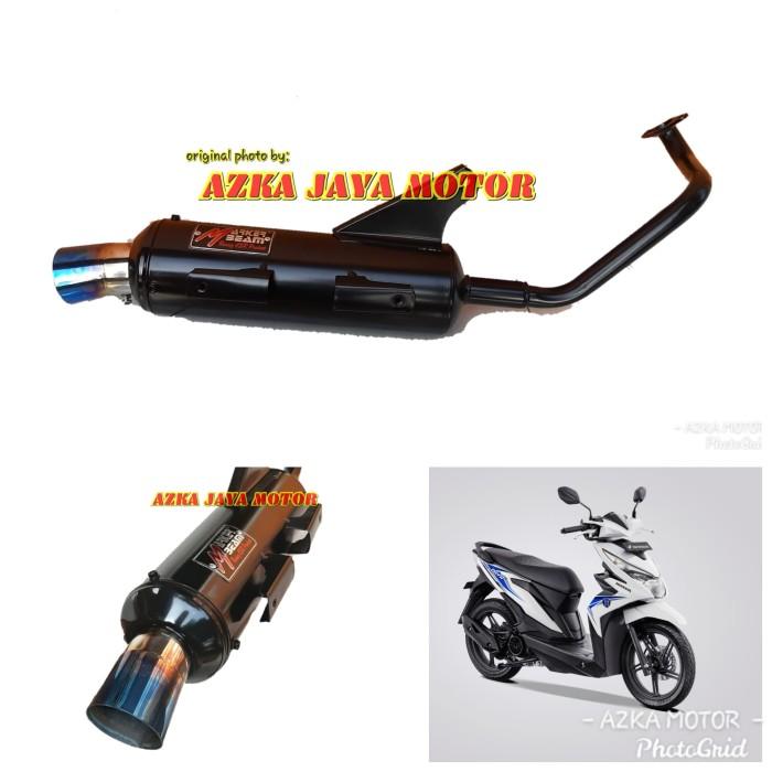 Foto Produk Knalpot Racing Bobokan new Beat Fi corong pelangi Marker Beam By CSR dari Azka Jaya Motor