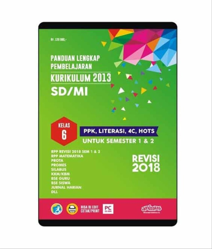 Jual Baru Animus Rpp K13 Sd Kelas 6 Revisi 2018 Kota Surabaya Sunalfero Tokopedia