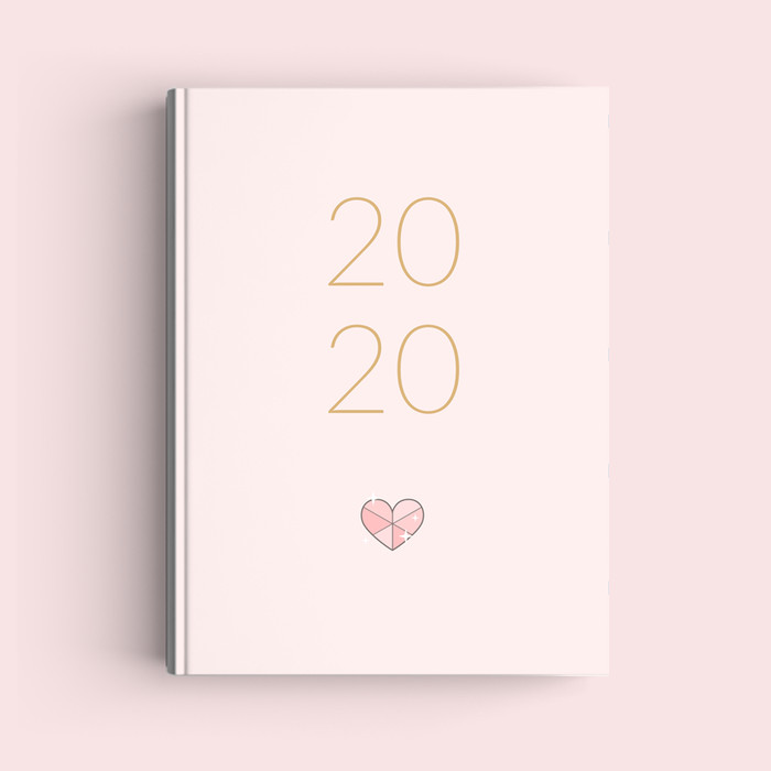Foto Produk Simple Notebook A5 - Heart - Journal 2020 | Planner - Bookpaper Polos dari The Book ID