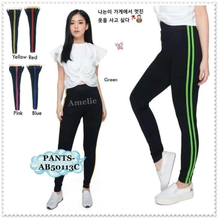 Jual Ab50113c Celana Legging List Wanita Celana Senam Yoga Zumba Import Jakarta Pusat Amelie Butik Wholesale Tokopedia
