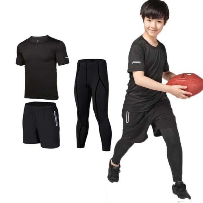 Jual Produk Import 3 Uds Ninos Compresion Running Set Pantalones Camisas Jakarta Selatan Bulan92 Tokopedia