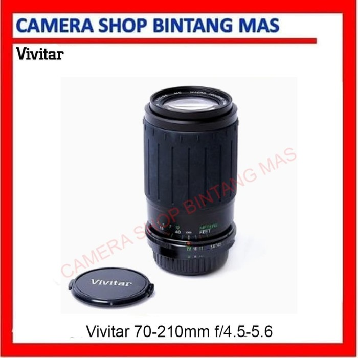 Foto Produk Vivitar 70-210mm f4.5-5.6 Zoom Lens for Yashica Nikon Pentax dari Camera Shop Bintang Mas