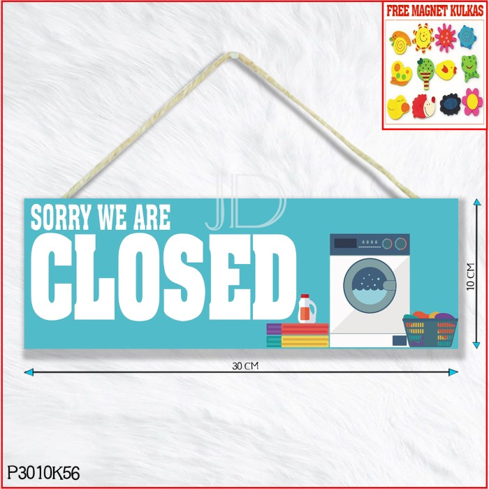Jual Wall Decor Sign Board Petunjuk Laundry Closed P3010k56 Kab Lamongan Joya Decor Tokopedia