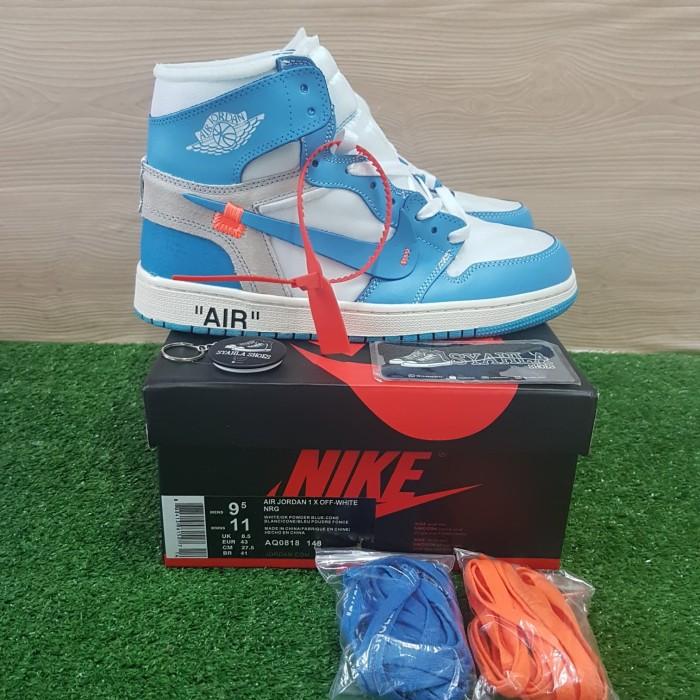 the latest 0d598 ea586 Jual SEPATU NIKE AIR JORDAN 1 OFF WHITE UNC BLUE CONE 100% UA ORIGINAL BNIB  - , - Jakarta Selatan - Syahla Shoes | Tokopedia