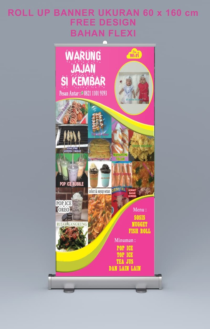 Roll Up Banner Cm X Cm Gratis Desain Flexy