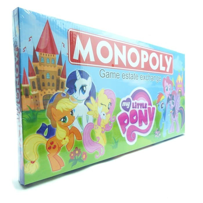 jual mainan anak family game monopoly my little pony 2020